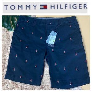 """NWT Tommy Hilfiger 9"""" Navy Blue Sailboat Shorts. 8"""